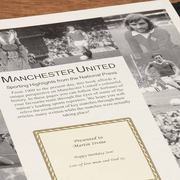 Personalised Man United Football Book