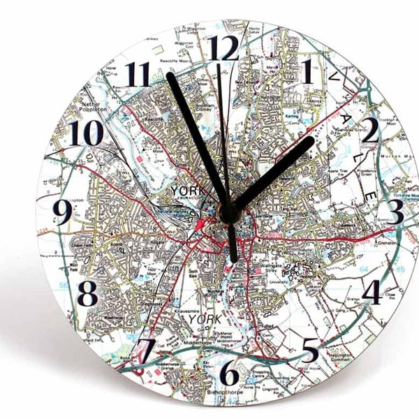 Personalised Map Clocks