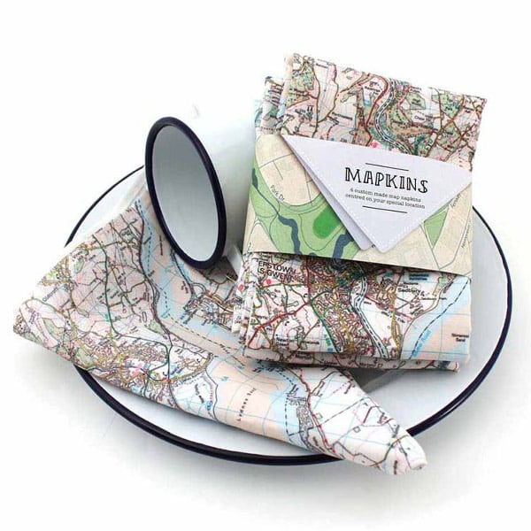 Personalised Map Napkins