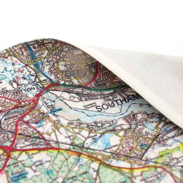 Personalised Map Tea Towel