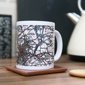 Personalised Ordnance Survey Map Mugs