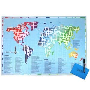 Personalised World Map Crossword