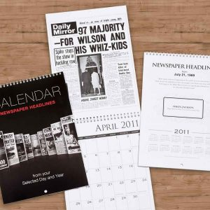 personalised newspaper year calendar