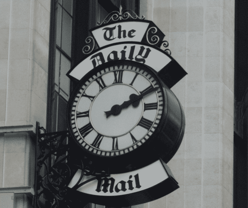 daily mail clock