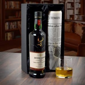 Personalised 12y/o Malt Whisky with Newspaper