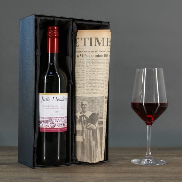 Red Wine and Newspaper