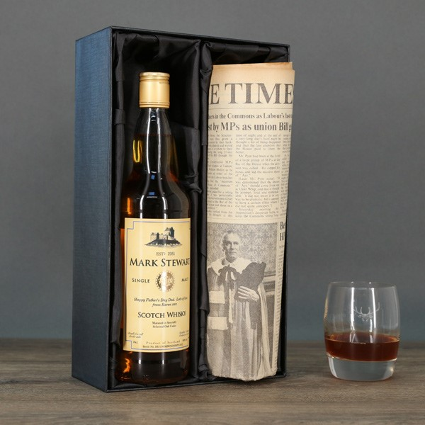 Scotch Whisky and Newspaper