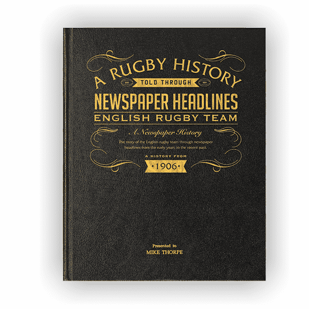 English Rugby Newspaper Book