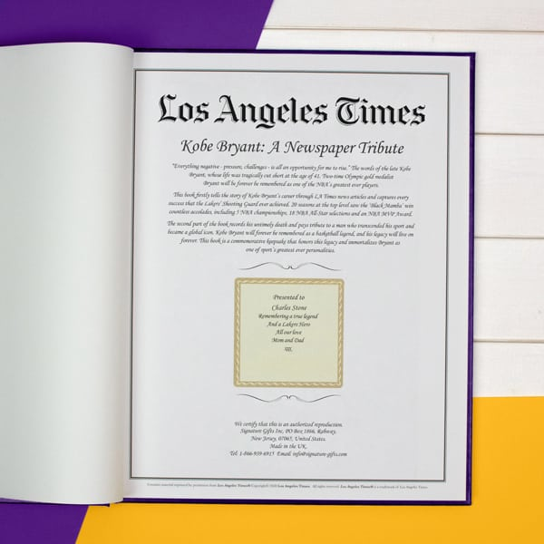 Kobe Bryant: A Newspaper Tribute