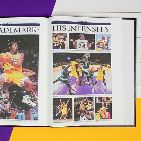 Kobe Bryant Tribute Newspaper Book