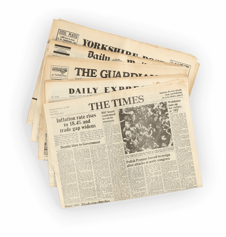 Shop Personalised 30th Birthday Gifts Historic Newspapers