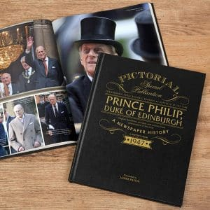 Prince Philip pictorial newspaper book